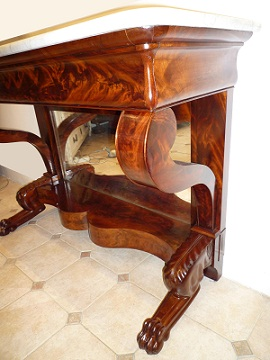 prochainement a vendre: console restauration 19ème siècle